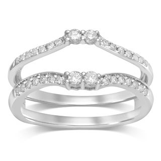 Unending Love 14k White Gold 1/3ct Diamond TDW Enhancer Ring