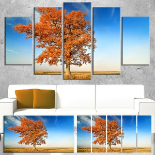 Colorful Lonely Fall Tree - Landscape Photography Canvas Print
