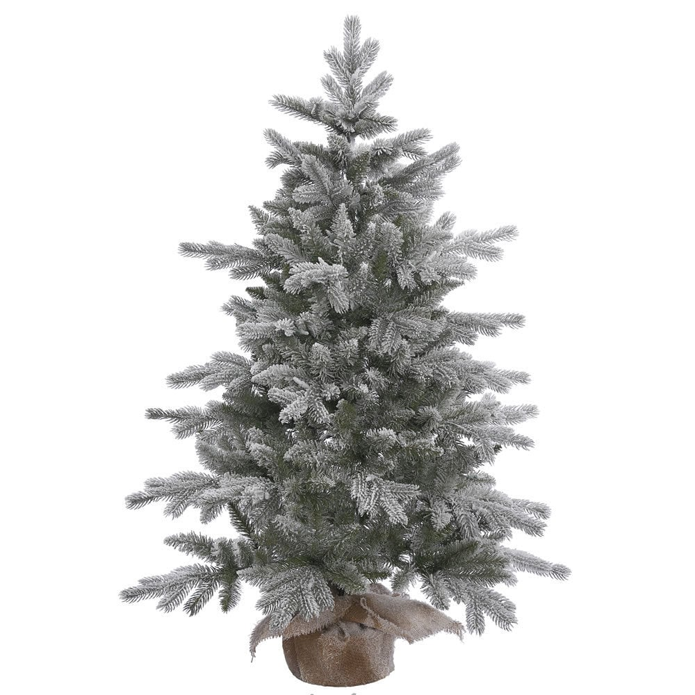 Vickerman Frosted Green Artificial Sable Pine 4-foot Unli...