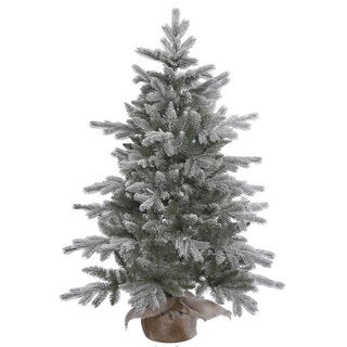 Vickerman Frosted Green Artificial Sable Pine 4-foot Unlit Christmas Tree