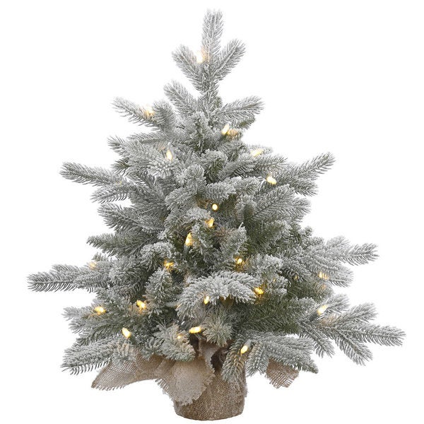 50 Foot Christmas Tree: Shop Vickerman Frosted Green PVC 2-foot Sable Pine