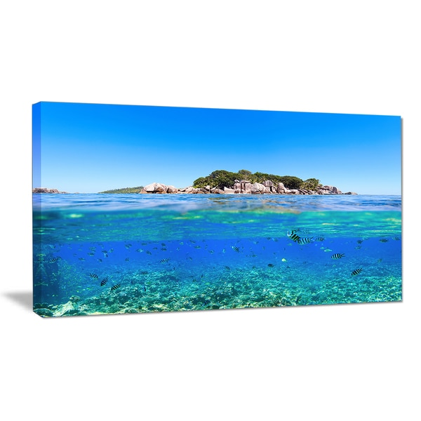 Under and Above the Waters - Seascape Photo Canvas Print