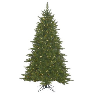 Vickerman Green Plastic 7.5-foot Durango Spruce Artificial Christmas Tree with 800 Warm White LED Lights