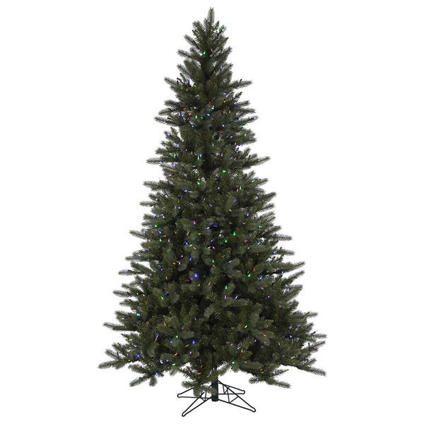 Artificial Christmas Trees Clearance: Shop Vickerman Green PVC 9-foot Spokane EZ Plug Artificial