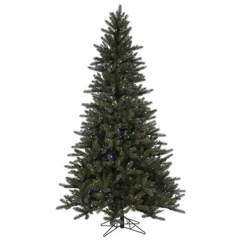 Vickerman Green PVC 9-foot Spokane EZ Plug Artificial Christmas Tree with 900 Color Changing LED Lights