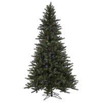 Vickerman Spokane EZ Plug Green Plastic 7.5-foot Artificial Christmas Tree with 750 LED Lights