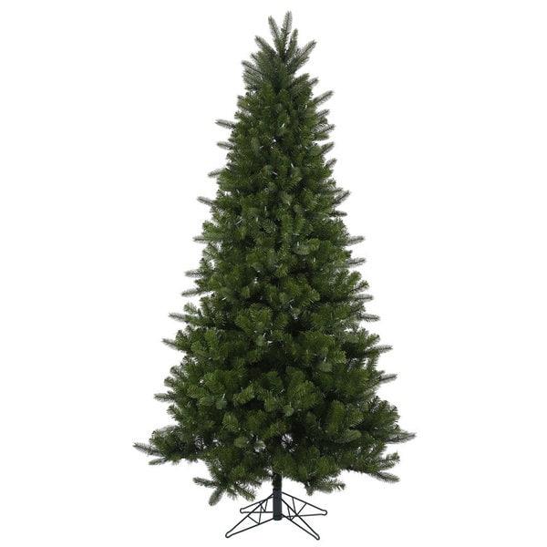 Lead Free Christmas Trees: Shop Vickerman Green Plastic 7.5-foot Ogden Fir 8-function