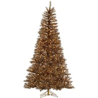 Vickerman Metal Mix Plastic 7.5-foot Tinsel Artificial Christmas Tree With 700 Clear Lights