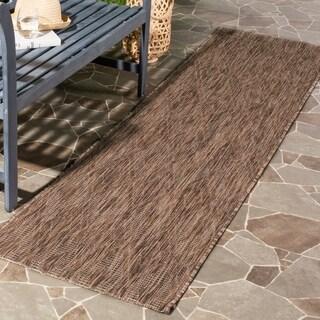 Safavieh Indoor/ Outdoor Courtyard Brown/ Brown Rug (2' 3 x 8')