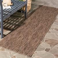 Safavieh Indoor/ Outdoor Courtyard Brown/ Brown Rug - 2' 3 x 8'