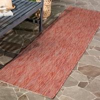 Safavieh Indoor/ Outdoor Courtyard Red/ Red Rug - 2' 3 x 12'
