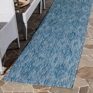Safavieh Indoor/ Outdoor Courtyard Navy/ Navy Rug (2' 3 x 8')