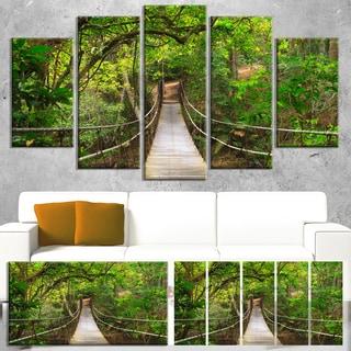 Bridge to Jungle, Thailand - Landscape Photo Canvas Art Print