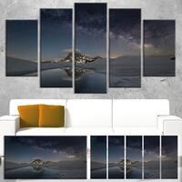 Dark Mountains in Spain - Landscape Photo Canvas Art Print - Blue