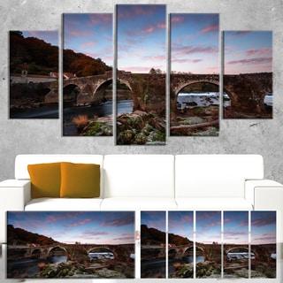 Old Roman Bridge in Spain - Landscape Photo Canvas Art Print