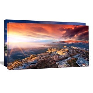 Colorful Autumn Sky and Mountains - Landscape Photo Canvas Print