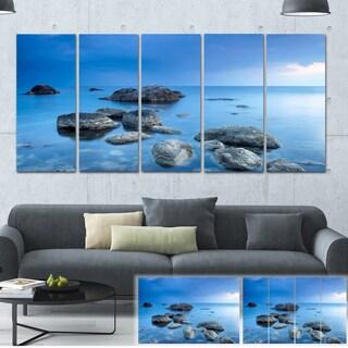 Rocky Blue Sea - Seascape Photography Canvas Art Print