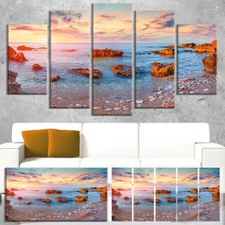 Mediterranean Sea Sunrise - Seashore Photography Canvas Print