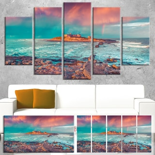 Blue Waters in Spring - Seascape Photo Canvas Art Print
