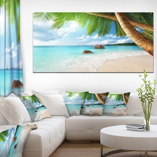 Praslin Island Seychelles Beach - Seashore Photo Canvas Print