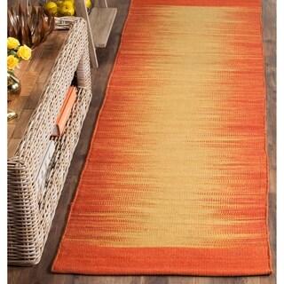 Safavieh Hand-Woven Kilim Rust Wool Rug (2'3 x 8')