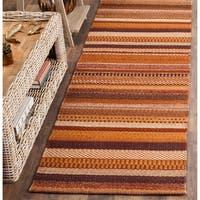 "Safavieh Hand-Woven Kilim Rust Wool Rug - 2'3"" x 8'"