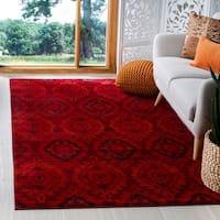 Safavieh Tunisia Red/ Orange Rug - 2'3 x 8'