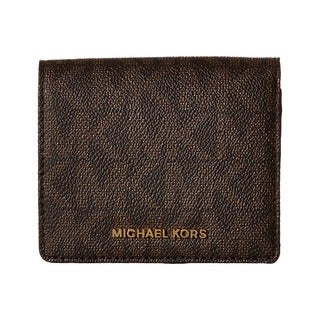 Michael Kors Signature Logo Brown PVC Card Case