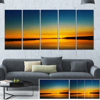 Orange Sunset Over River - Skyscape Photography Canvas Print