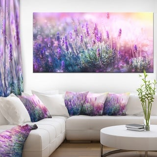 Growing and Blooming Lavender - Floral Photo Canvas Art Print