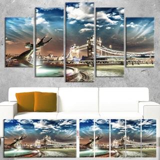 Tower Bridge at Night - Landscape Photography Canvas Print