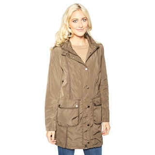 Larry Levine Women's Hooded Anorak Jacket