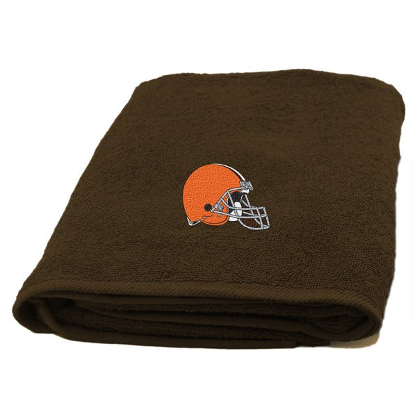 NFL 929 Browns Applique Bath Towel