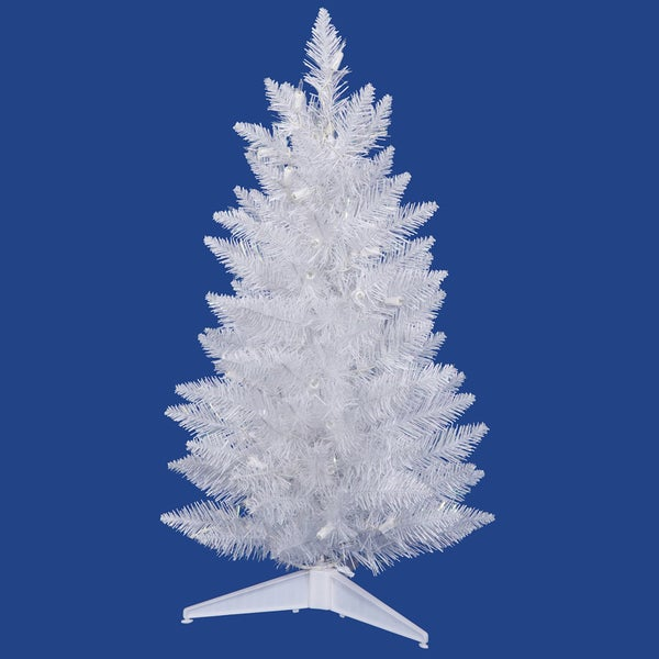 2 Ft White Christmas Tree: Shop Vickerman Sparkle White Plastic 18-inch Spruce Unlit