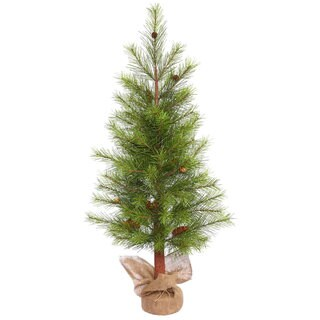 Vickerman Green Plastic 4-foot White Pine Unlit Artificial Christmas Tree