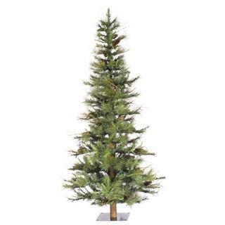 Vickerman Green Plastic 6-foot Ashland Unlit Artificial Christmas Tree
