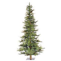 Vickerman Green Plastic 4-foot Ashland Unlit Artificial Christmas Tree