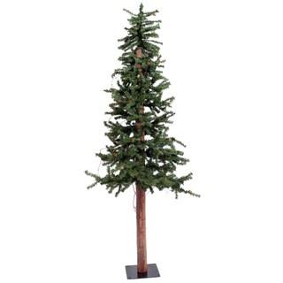 Vickerman Green PVC 4-foot Alpine Unlit Artificial Christmas Tree