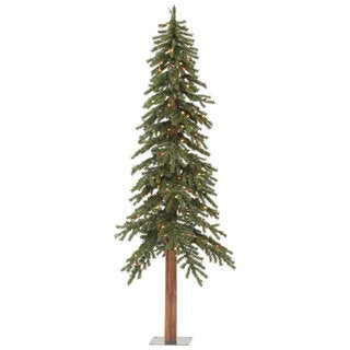 Vickerman Natural Alpine 8-foot Artificial Christmas Tree With 400 Multicolored LED Lights