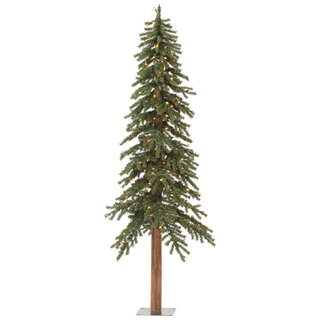 Vickerman Green Plastic 5-foot Natural Alpine Artificial Christmas Tree With 150 Multicolor Lights