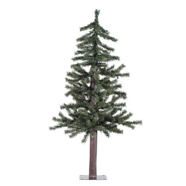 Vickerman Natural Alpine 3-foot Unlit Artificial Christmas Tree - Shop Vickerman Natural Alpine 3-foot Unlit Artificial Christmas Tree