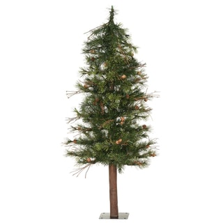 Vickerman Green Plastic 6-foot Mixed Country Alpine Unlit Artificial Christmas Tree