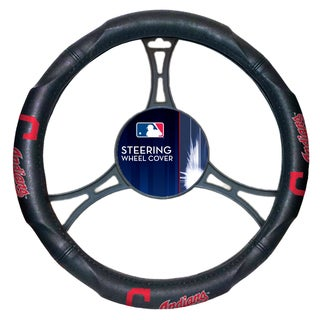 The Northwest Company MLB 605 Indians Car Steering Wheel Cover