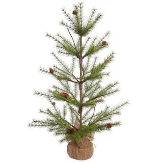 Vickerman Green Plastic 3-foot River Pine Unlit Artificial Christmas Tree