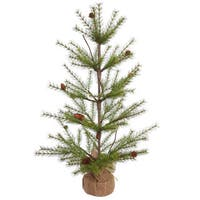 Vickerman Green Plastic 3-foot River Pine Unlit Artificial Christmas Tree
