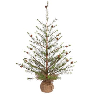 Vickerman Green Plastic 36-inch Missoula Pine Artificial Unlit Christmas Tree