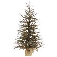 Vickerman Green Plastic 30-inch Vienna Twig Unlit Artificial Christmas Tree