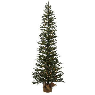 Vickerman Green Plastic 3-foot Mini Pine Artificial Christmas Tree with 50 Warm White LED Lights