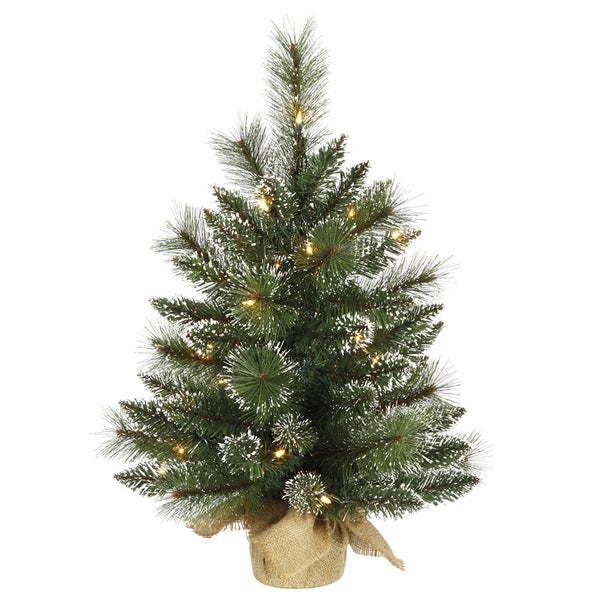 Lead Free Christmas Trees: Shop Vickerman Green Plastic Pine And Berry Christmas Tree