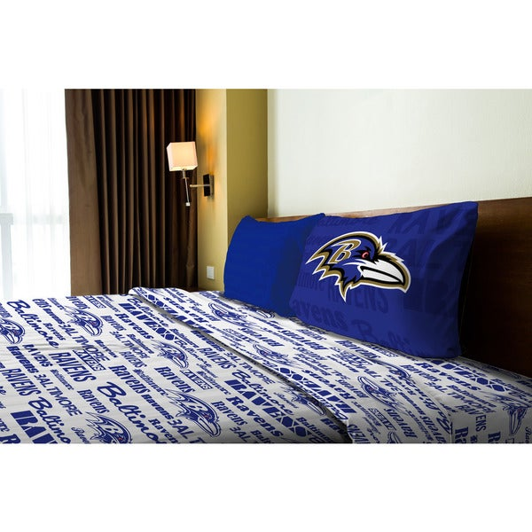 5bba159a NFL 820 Ravens Anthem Twin Sheet Set